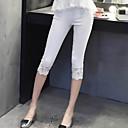 De las mujeres Pantalones Ajustado - Bodycon Elástico - Encaje/Mezclas de Algodón