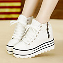 Women's Shoes Fabric Wedge Heel Comfort Fashion Sneakers with Zipper