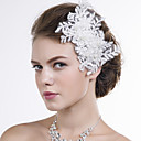 Women Lace Flowers With Imitation Pearl Wedding/Party Headpiece