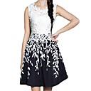 plus size elegant spets kvinnans klädsel
