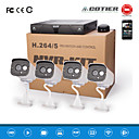 Cotier®4CH 1U NVR System 720P/960P/1080P/Plug and Play/Outdoor/Bullet IP Camera N4B7M/Kit