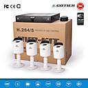 Cotier®4CH 1U NVR Set 720P/960P/1080P/Plug and Play/CMOS Sensor/ONVIF IP Camera N4B3M/Kit