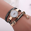 New Fashion  Women Dress Wristwatch Vintage Quartz Analog Watch New  Bracelet Quartz  PU Wrist Watch
