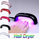 moda portátil 9w levou 100-240v ponte luz máquina mini-secador de cura em forma de unhas nail art cuidado lâmpada al-0701