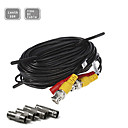 100FT(30M) CCTV Security Surveillance Camera Video Power Extension Cable Pre-made All-in-One BNC RCA Cable