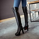 Women's Shoes Chunky Heel / Fashion Boots / Round Toe Boots Dress / Casual Black / Burgundy / Blue