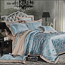 Simple Opulence 100% Cotton  Grey Satin Jacquard Silk Duvet Cover Set