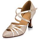 Customizable Women's Dance Shoes Latin Sparkling Glitter Stiletto Heel Black / Ivory / Silver