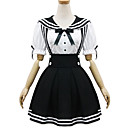 Black and White Polyester Navy Costume Type4
