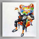Oil Painting  Impression Frog Hand Painted Canvas with Stretched Framed Ready to Hang