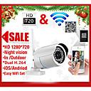 szsinocam® Bullet Outdoor IP Camera 1.0 MP IR-Cut Email Alarm Night Vision Motion Detection Waterproof P2P Wireless