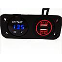 voltímetro digital y el cargador del coche del usb dual, nuevos productos, con la función impermeable.