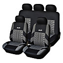 9 PCS Set Car Seat Covers For Material Polyester Technology Heat-Embossed Universal Fit
