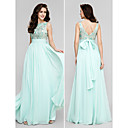 TS Couture® Formal Evening / Prom / Military Ball Dress Plus Sizes / Petite A-line Scoop Floor-length Chiffon