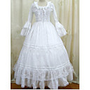 Gothic Lolita Dress  Vintage  White Gothic Victorian Dress Cosplay Costumes