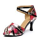 Customizable Women's Dance Shoes Latin Leatherette Stiletto Heel Multi-color