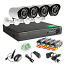 4 PCS AHD Camera 4CH 720P  DVR Outdoor Home Video Security Camera System