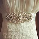 Raso Matrimonio / Party/serata Fusciacca-Con cristalli / Perle finte Da donna 250cm Con cristalli / Perle finte