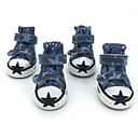 Socks & Boots for Dogs Blue / Purple Shoes Spring/Fall Cotton