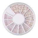 Mixed-Size semicírculo White Pearl Nail Art Decoraciones