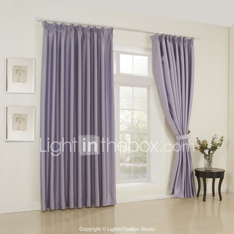 Twee panelen moderne solide lavendel slaapkamer rayon ...