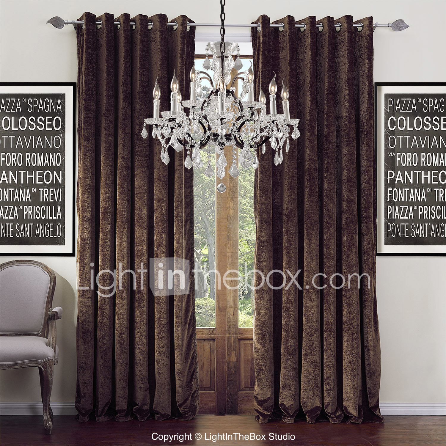 Modern Curtain Panels For Living Room Modern Curtains Window Treatments Lightintheboxcom