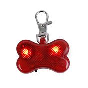 猫用品 / 犬用品 タグ LEDライト / 点滅 レッド プラスチック