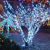 10m 6W 100-luz LED blanco lámpara de cadena para Navidad Halloween decoración festival (110/220v)