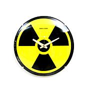 signo nuclear radiación vidrio analógico reloj de pared