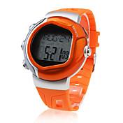 Herre Sportsur Digital LCD Pulsmåler Kalender Kronograf alarm Gummi Bånd Orange Orange
