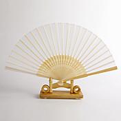 白い竹扇子(4個セット)