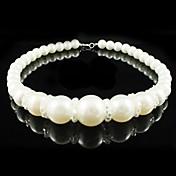 aleación preciosa con perla de imitación / collar de cristal de boda nupcial