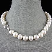 Collar con perlas Perla Hebra Única Perla joyería de disfraz Joyas Para