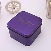 24 Piezas / Juego Holder favor-De Forma Cúbica Metal Cajas de regalos Cubetas de recuerdo Personalizado