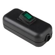 電気のDIY(ブラック&グリーン)グリーンライト付きロッカースイッチのオン/オフ·ラインで耐水性