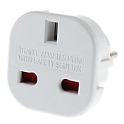 Enchufe de la UE para conectar varios adaptadores universales de viaje redondo con obturador de seguridad (110-240V)
