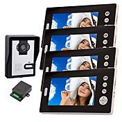 7インチドアホンモニター付きkonx®ワイヤレスナイトビジョンカメラ(1camera 4モニター)