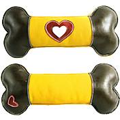 Juguete para Perro Juguetes para Mascotas Juguete Mordedor Juguetes Crujientes Chirrido Hueso Piel Genuina