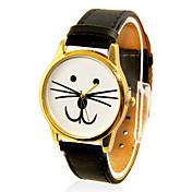 Mujer Reloj de Moda Reloj Casual Cuarzo Banda Caricaturas Negro