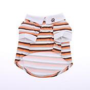 Perros Camiseta Naranja Ropa para Perro Verano Primavera/Otoño Rayas Casual/Diario