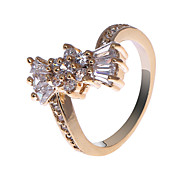 18 quilates de S & V Mujeres Rose chapado en oro circón anillo BBR-00270_1