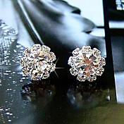 Mujer Pendientes cortos Diseño Básico Estilo Simple Moda joyería de disfraz Cristal Zirconio Zirconia Cúbica Diamante Sintético Legierung