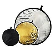 """32 """"2 in1 sølv gyldne disk sammenklappelige Reflector 80cm"""