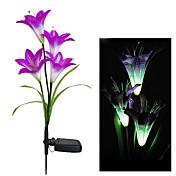 色を変更するソーラーライト装飾ガーデンソーラーユリの花ライト(CIS-58263B)