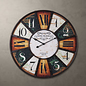 """H24 """"Country Style cuadrado del metal del reloj de pared"""