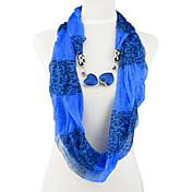 Double Heart Jewelry Charms Infinito Endless primavera y bufandas verano para las mujeres, Nl-2021h, I, J