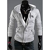 La moda de Nueva delicada capa encapuchada del paño grueso y suave Ocio franela Fleece DJJM hombres (gris claro)