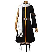 Inspirado por Fairy Tail Natsu Dragneel Anime Fantasias de Cosplay Ternos de Cosplay Patchwork Casaco Calças Cinto Cachecol ParaMasculino
