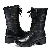 GUCIHEAVEN New Classic Genuine Leather Martin Boots (Zwart)