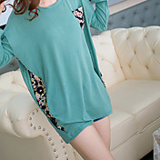Mengsier gasa costuras de gran tamaño Mujeres Camisetas A1042